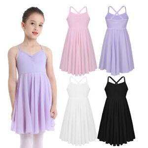 Kids Girls Camisole Tutu Dress Ballet Leotard  Ballerina Dancewear Skirt Costume