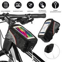 Waterproof MTB Bike Front Mount Bag Bicycle Pannier Cycling Phone Case Holder