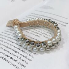 Head rope bracelet type dual-use pearl rubber band hair ring hair rope headdress