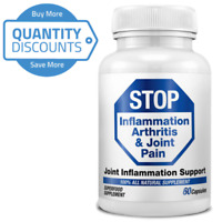 STOP Inflammation Arthritis & Joint Pain MSM Methylsulfonylmethane  QTY Discount