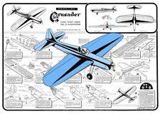 "Model Airplane Plans (UC): Mercury CRUSADER 56"" Super Stunt for .35 Engine"
