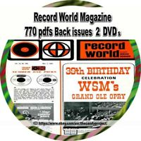 Record World Magazine Vintage 2 DVDs 761 pdfs Back Issues Music Vendor 9 pdfs