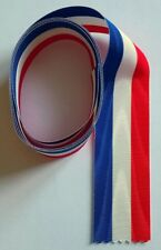 1 mètre de ruban tricolore NEUF pour médailles militaires diverses, larg: 37 mm.