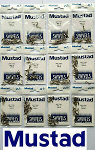 144 MUSTAD ROLLING SNAP SWIVEL FISHING TACKLE. 12 PACKS OF 12 PCS EACH