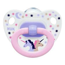 Nuk Happy Days Size 1 unicorn (0-6m) Silicone Soother (2 pack)