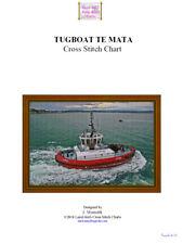 TUGBOAT TE MATA - cross stitch chart
