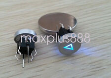 5pcs 6*6mm Blue Led Dia 10mm Cap PLAY 12V Momentary Tact Push Button Switch