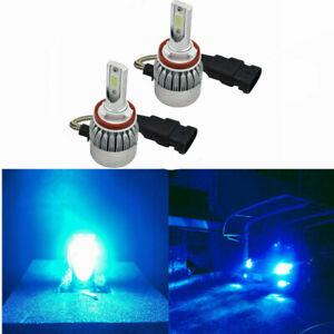 ICE BLUE H9 LED Headlight for HOLDEN VE&VE-II COMMODORE SSV SS SV6 HSV High Beam