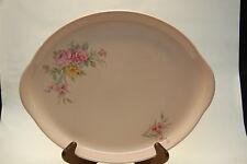 Crooksville Ohio Pottery Pink Multi Floral Large Serving Platter, RARE HTF