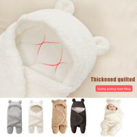 Baby Wrap Blanket Plush Swaddle Bear Warm Multicolour Baby Sleeping Bag