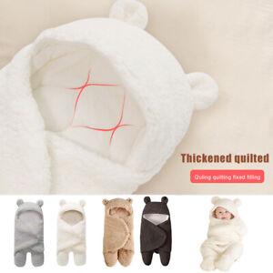 Baby Wrap Blanket Plush Swaddle Bear Warm Multicolour Baby Sleeping Bag