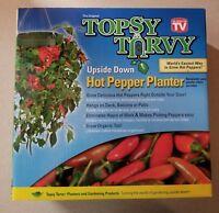 Original Topsy Turvy Upside Down Hot Pepper Planter Felkner As Seen On Tv