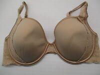 36D VICTORIA'S SECRET #BR305 Underwire Lined Demi Coverage Casual Nude Bra