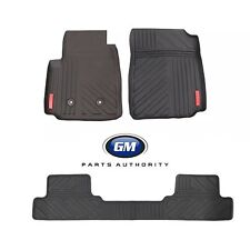 2015-2019 GMC Canyon Extended Cab Front & Rear All Terrain Mats Black w/ Logo OE