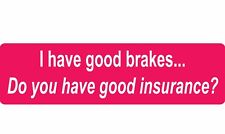 1 x Tailgating Car Warning Sticker - Don't drive too close! 200mm - Pink