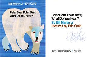 ERIC CARLE SIGNED AUTOGRAPHED POLAR BEAR POLAR BEAR HARDCOVER BOOK BECKETT BAS