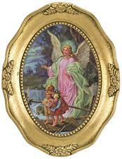 """Guardian Angel 4.5"""" Image in Gold Leaf Frame"""