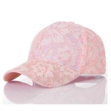 Fashion Summer Women Baseball Lace Sun Hats Breathable Mesh Snapback Hat Caps
