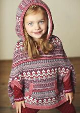 Matilda Jane BRAYLON PONCHO 4 Hooded Sherpa Sweater Pullover Friends Forever NWT