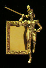 Majorette Photo Pin Brooch Marching Band School 24 Karat Gold Plate