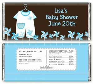 Little Boy Outfit - Personalized Baby Shower Candy Bar Wrappers - Candy Favor