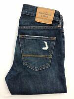 Men's Abercombie & Fitch The A&F Skinny Distressed Blue Jeans | W29 L32