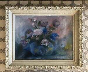 """Framed Oil Painting Of Bouquet - """"Tranquil Mood"""" signed belti - W.F. Jemison"""