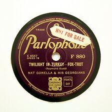 "NAT GONELLA & HIS GEORGIANS ""Twilight In Turkey"" (E+) PARLOPHONE F-880 [78 RPM]"