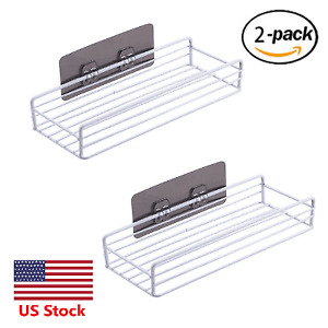 Stainless Steel Caddy for Bathroom Shower Kitchen no need Drill 2 pcs
