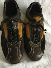 Barleycorn Men  10 Euro 44 Shoes Italy Leather Suede Brown Yellow PIBAS4394MVS7