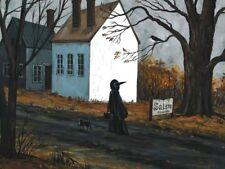 1.5x2 DOLLHOUSE MINIATURE PRINT RYTA 1:12 SCALE HALLOWEEN BLACK CAT WITCH SALEM