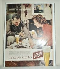 1960 Vintage Magazine Full Page Color Ad *Schlitz* Beer & Monopoly Game