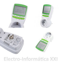 Contador de Consumo Eléctrico Medidor Electricidad Enchufable 16A Entrega 24-72H