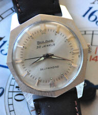 Vintage M7 Bulova Automatic Watch Awesome 8-Sided Stainless Case Runs Looks Nice