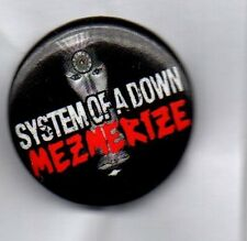 SYSTEM OF A DOWN Mezmerize BUTTON BADGE American Heavy Metal Band -  25mm Pin
