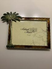 Ashleigh Manor Enameled Metal Desk Picture Frame Palm Tree 7� X 5�