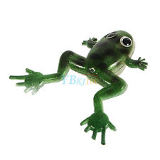 10Pcs 3D Silicone Soft Frog Topwater Fishing Lure Crankbait Bass Bait Tackle AM