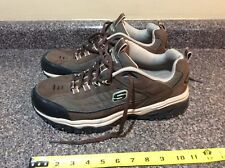 Skechers Men's After Burn-Memory Fit Lace Sport Shoes Brown/Taupe Size 12 BRTP