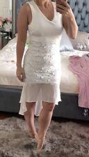 Boohoo White Midi Dress With Lace Bottom Sexy Size 6 Gorgeous