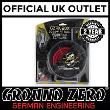Ground Zero GZPK20X 2000 Watts 4 AWG Gauge Car Amplifier Amp Sub Full Wiring Kit