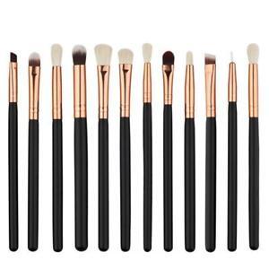 12x Eyeshadow/Concealer/Eyeliner/Blending/Eyebrow Eye Lip Make up Brushes Set UK