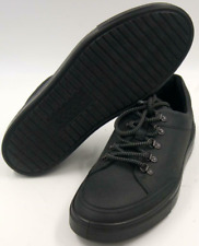Ecco Kyle Men's Black Leather Lace Up Sneakers Size 8M Shoes
