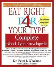 Eat Right For Your Type Complete Blood Type Encyclopedia: By Peter D'Adamo