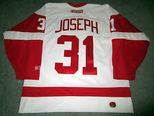 """CURTIS JOSEPH """"CUJO"""" Detroit Red Wings SIGNED Autographed JERSEY w/ BAS COA L"""