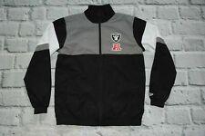 Jacket RAIDERS new Era L large Men NFL rare football gray white black