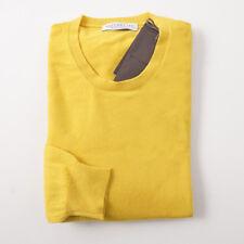 NWT $750 BALLANTYNE Sunflower Yellow Extrafine Cashmere Sweater M