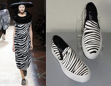 ** JUNYA WATANABE Comme des Garcons ** New! Zebra Print Skater Slip On Sneakers