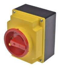 ABB NON FUSED SWITCH DISCONNECTOR 4-Poles 40A 15kW 3-Phase RED/YELLOW
