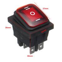 On-Off-On 6 Pin 12V Car Boat LED Light Rocker Toggle Switch   RED