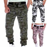 Mens Thermal Drawstring Sweatpants Cargo Combat Work Pants Bottoms Joggers Pants